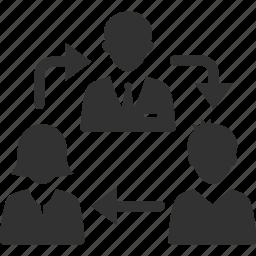 businessman, team, teamwork icon