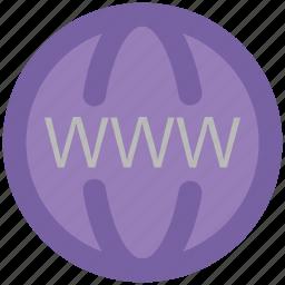 domain, global, globe, url, web searching, worldwide icon