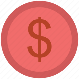 commerce, currency, dollar coin, finance, money, saving icon