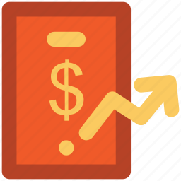 commerce, currency, currency value, finance, pointing up, saving icon