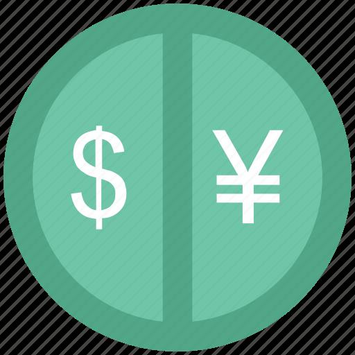 banking, currency exchange, dollar, dollar exchange, exchange, yen exchange icon