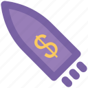 business rocket, ecommerce, finance, financial, space, spaceship, transport icon