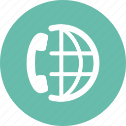 communication, conference call, global business, telephone icon