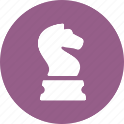 business strategy, chess knight, planning icon