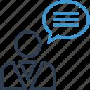 chat, conversation, money, talk, thinking, user icon