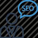 chat, perosn, profile, seo, speak, talk, user icon