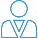 boss, man, person, profile, staff, teacher, user icon