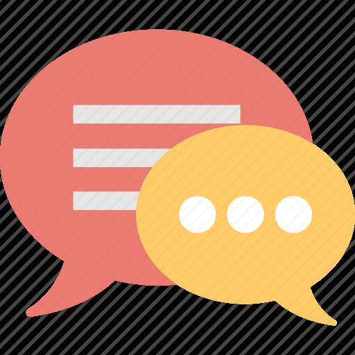 chat bubble, chit chat, communication, dialogue, talk icon