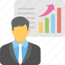 business presentation, commerce, economic, finance, success profit icon