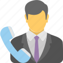 business call, business communications, business telecom, communications, sales call icon