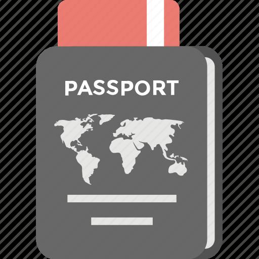 passport, tourism, travel id, travel pass, travel permit icon