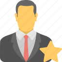 feedback, ranking, rating, review, star employee icon