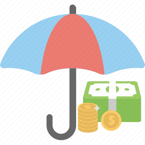 deposit scheme, insurance concept, investment, money protection, personal savings icon