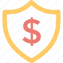 asset protection, financial security, insurance, money protection, shield money icon