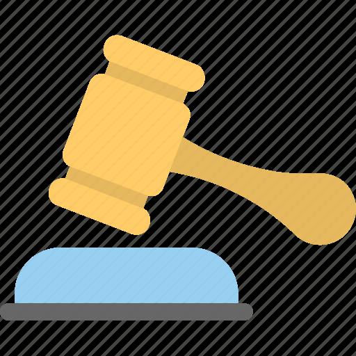 auction, bidding, gavel, law, mallet icon