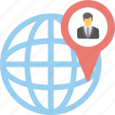 global business, global office, globalization, internationalization, virtual businessman icon