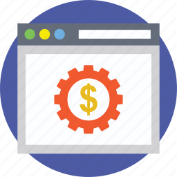 business website, ecommerce, internet business, online business, online payment concept icon