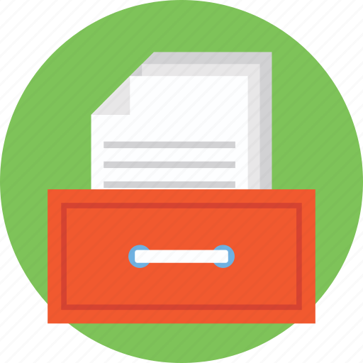 archive, archive drawer, data, document, file drawer icon