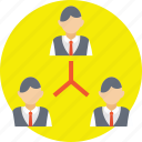 business connections, business network, corporate hierarchy, hierarchy of company, organization chart icon