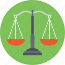 balance scale, law symbol, weighing, weighing scale icon