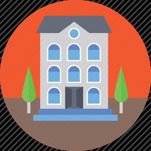 building, building exterior, building front, large building, modern architecture icon