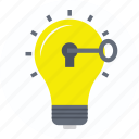 bright idea, creative idea, creativity, discovery, innovation icon