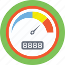 odometer, speed counter, speed gauge, speed indicator, speedometer icon