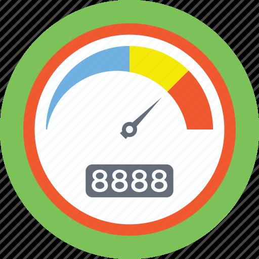 odometer, speed counter, speed gauge, speed indicator, speedometer icon