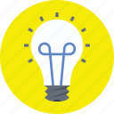 bulb, electricity, illumination, incandescent lamp, light bulb icon