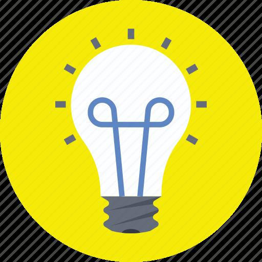 bulb, electricity, illumination, incandescent lamp, light bulb icon