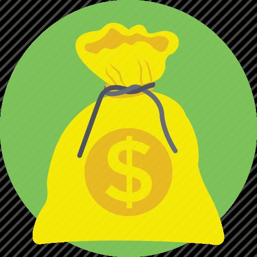 cash, finance, money bag, money sack, wealth icon