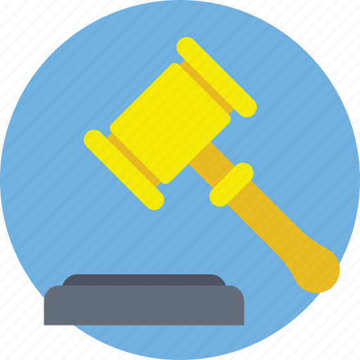 auction, bidding, gavel, law, mallet icon