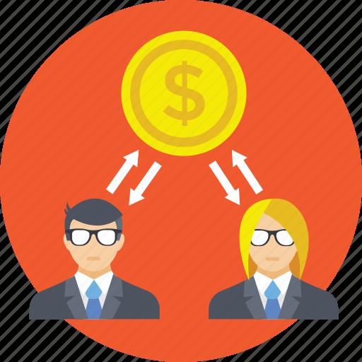 bankers, capitalist, financier, investor, shareholders icon
