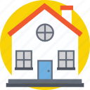 building, home, house, hut, villa icon