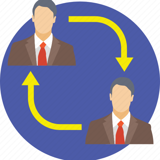 business buddies, business connections, business links, business partners, business people icon