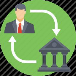 bank access, bank connectivity service, bank portals, bank services, corporate to bank icon
