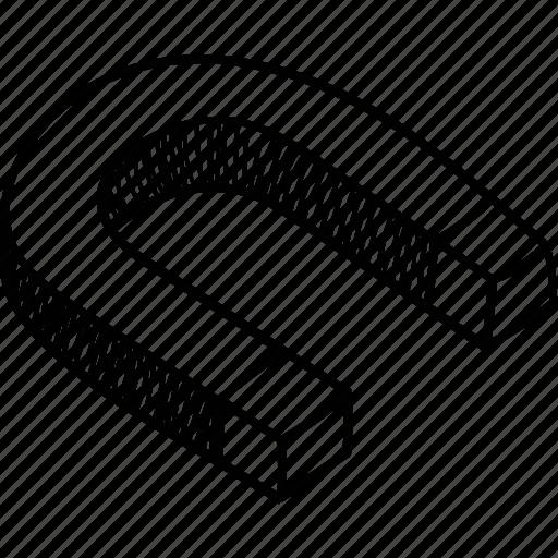 horseshoe, inbound marketing, magnet, shape, u shaped icon