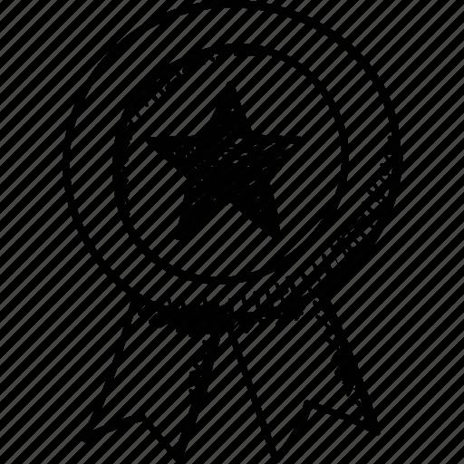 badge, premium, prize, quality, ribbon badge icon