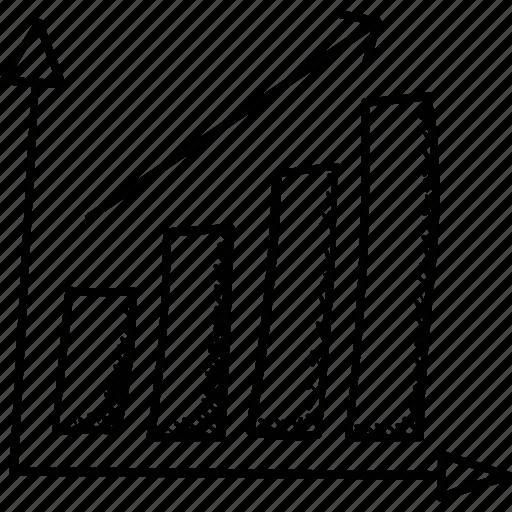 Business growth, analytics, bar chart, graph, infographics icon