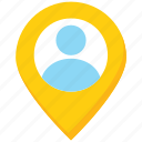 business, location, map, marker, pin, user icon