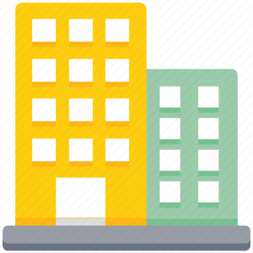 buildings, business, center, office, property icon