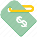 dollar, label, offer tag, price tag, tag icon