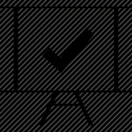 board, business, check, graph, mark, safe icon