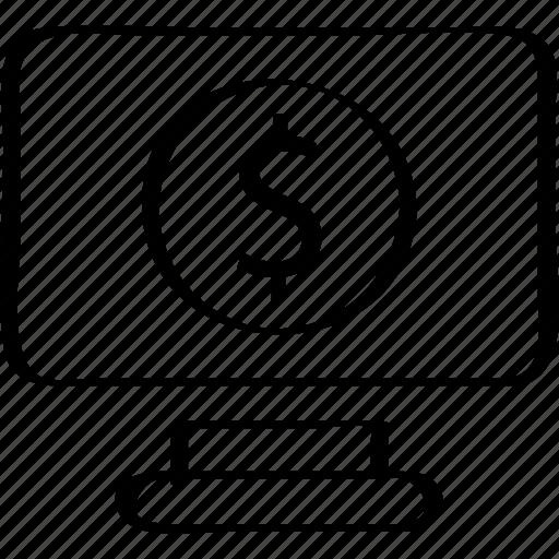 business, dollar, finance, pc, person, profile icon