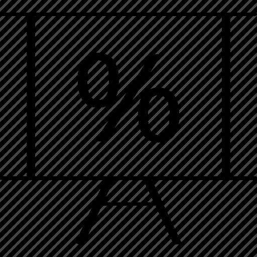 board, business, finance, percent, percentage icon
