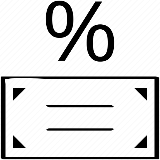 business, dollar, finance, pay, percent icon