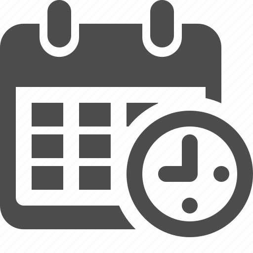 Calendar Booking Icon : Appointment business calendar clock deadline finance