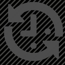 arrows, clock, deadline, time icon