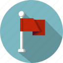 business, competition, flag, location, marketing, pin, pointer icon
