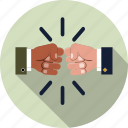 business, coalition, cooperation, decision, fist bump, partnership, teamwork icon